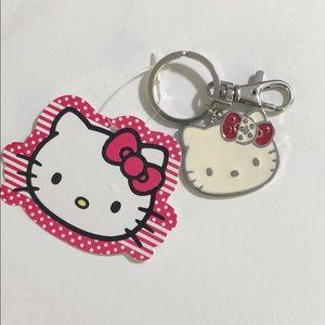 """Hello Kitty """"D"""" Keychain"""